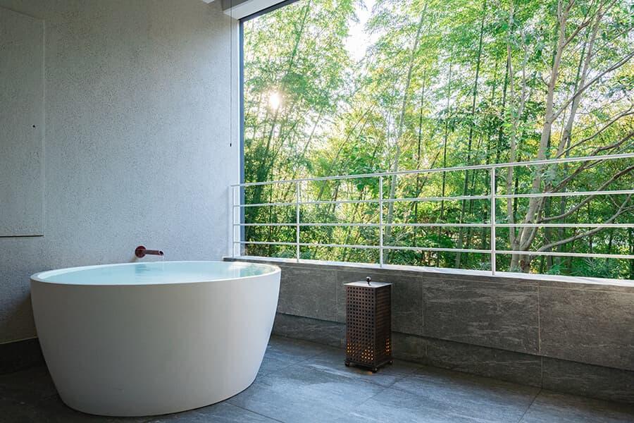 三輪 湯河原|客室露天風呂
