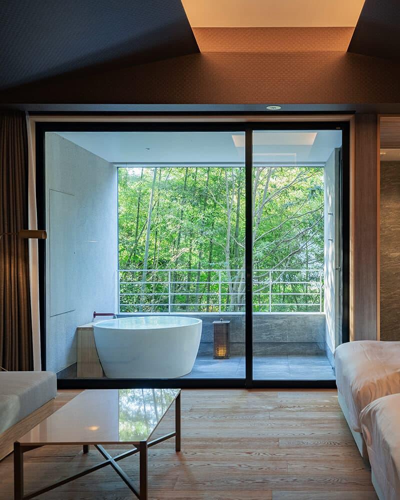 木立のツイン(露天風呂付き客室)