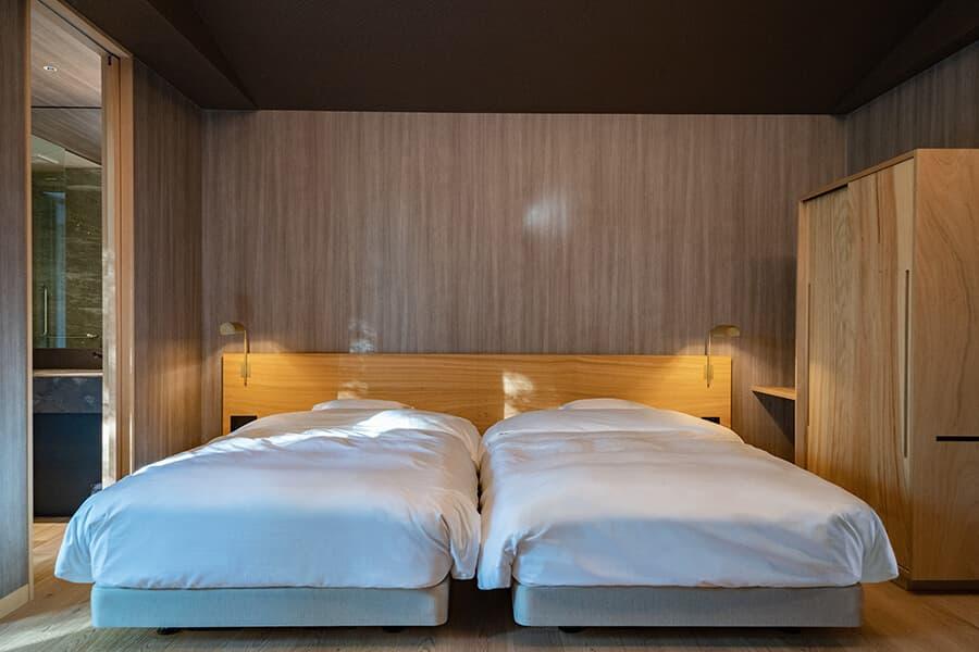 三輪 湯河原|木立のツイン|ベッド